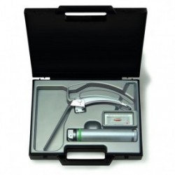 Equipo de laringoscopio con espátula FlexTip + Mac 3, con mango Standard de F.O.