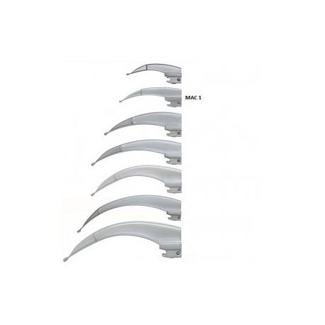 Hoja para laringoscopio de acero inoxidable Macintosh No. 1 - Envío Gratuito