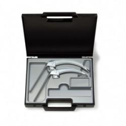 Hoja para laringoscopio de acero inoxidable FlexTip+F.O. en maletín Mac No. 3 y 4