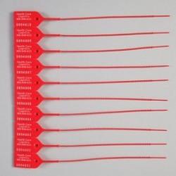 Candado de seguridad color rojo con área de escritura con 100 piezas