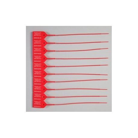 Candado de seguridad color rojo con área de escritura con 100 piezas - Envío Gratuito
