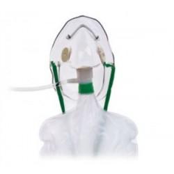 Mascarilla para oxigeno de no-rehinalación con válvula de seguridad adulto, caja con 50 piezas