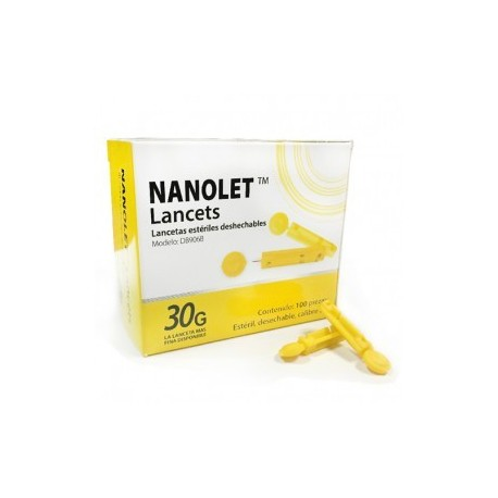 Lancetas NANOLET caja con 100 piezas - Envío Gratuito