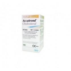 Tiras reactivas de Accutrend para checar el colesterol con 25 piezas