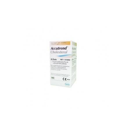 Tiras reactivas de Accutrend para checar el colesterol con 25 piezas - Envío Gratuito