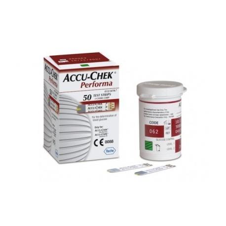 Tiras reactivas Accu-Check performa 50 piezas - Envío Gratuito