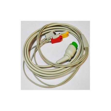 Cable para desfibrilador Defigard 5000 3 puntas - Envío Gratuito