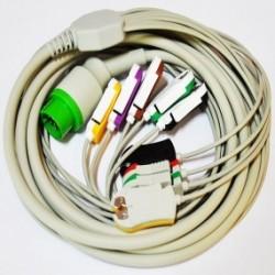 Cable de paciente de 10 puntas para desfibrilador DG 5000