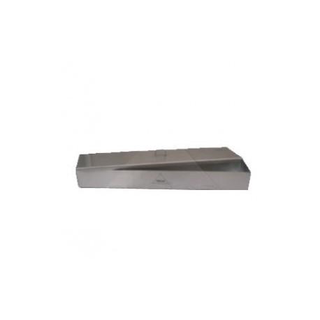 Charola conformada para cateter con tapa 22.5 x 12.7 x 7.5 cms. de acero inxodable - Envío Gratuito