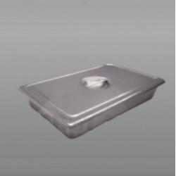 Charola para instrumental con tapa 31.5 x 19.5 x 5 cm. de acero inoxidable