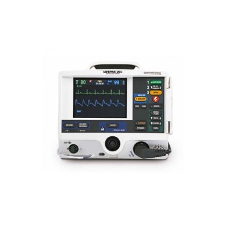 Monitor desfribilador Lifepack 20e con marcapasos y SaO2 - Envío Gratuito