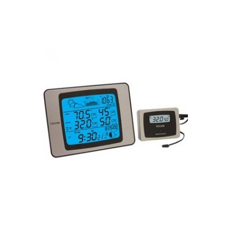 Termómetro con barómetro reloj y rh rango INT. -10+70 EXT - 40+70°C 20-99% - Envío Gratuito