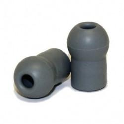 Oliva de rosca para estetoscopio suave gris