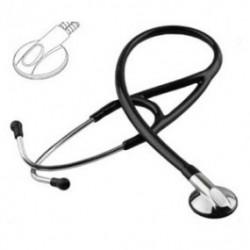 Estetoscopio profesional Medstar de alta precisión acústica color negro